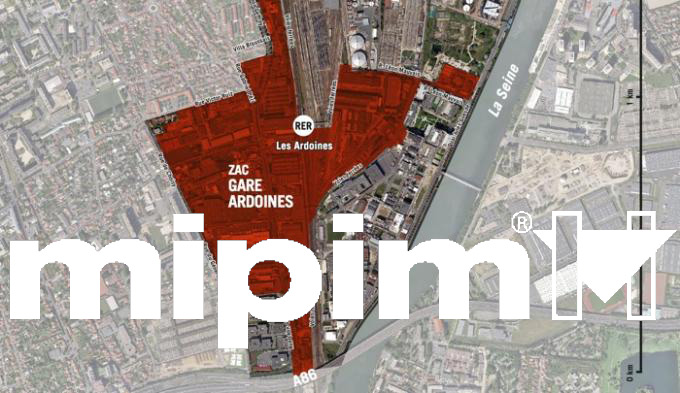 ZAC Gare Ardoines Presented at the MIPIM in Cannes, France