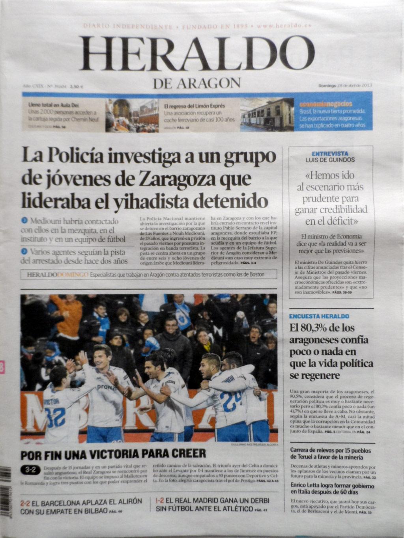 Heraldo de Aragón Interviews Beatriz Ramo