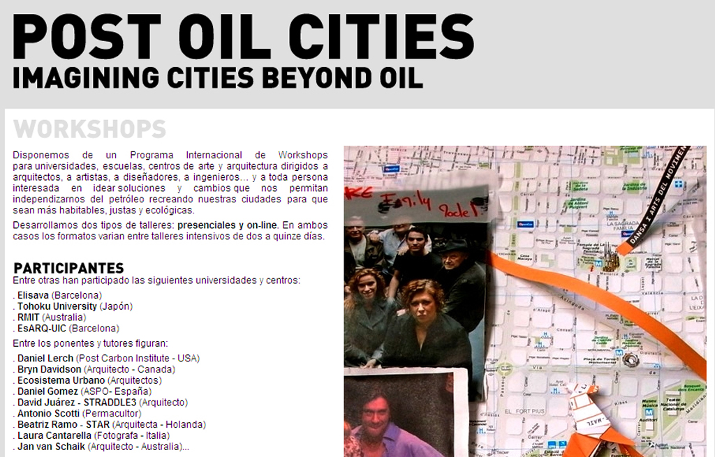 Workshop POC – Post Oil Cities