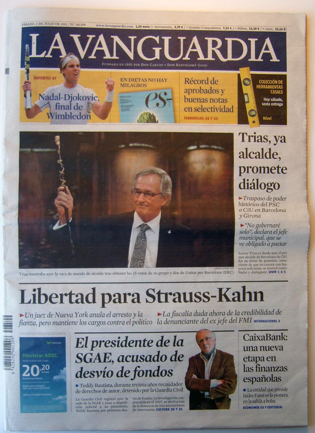 La Vanguardia 02-07-2011
