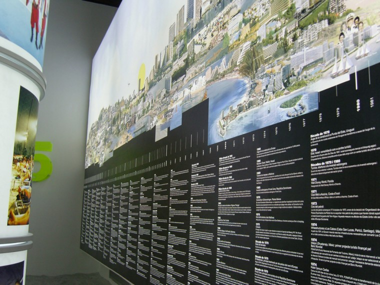 dhub u disseny hub barcelona tourism spaces of fiction panorama years of beach tourism group exhibition barcelona spain december u may
