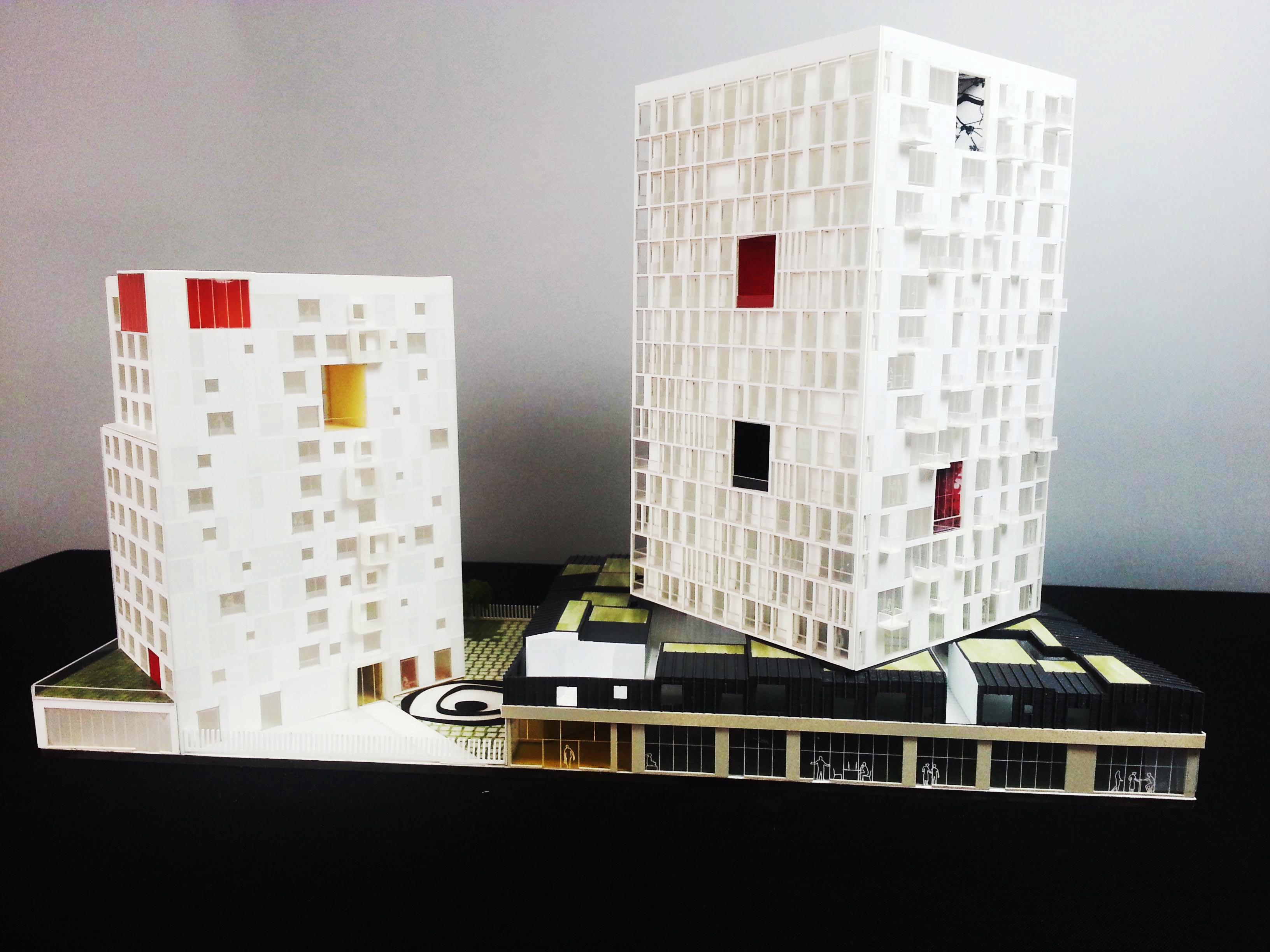 « Chambre avec Vue ». Social Housing project – Paris 18eme