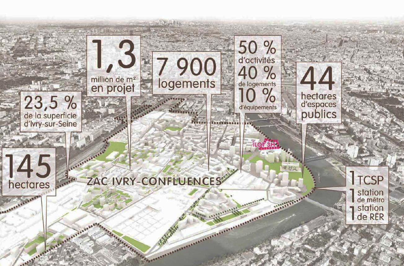 """The team STAR-SBA-AIA has been selected for the design of the """"Ilot 3H"""" in Ivry-sur-Seine, Grand Paris"""