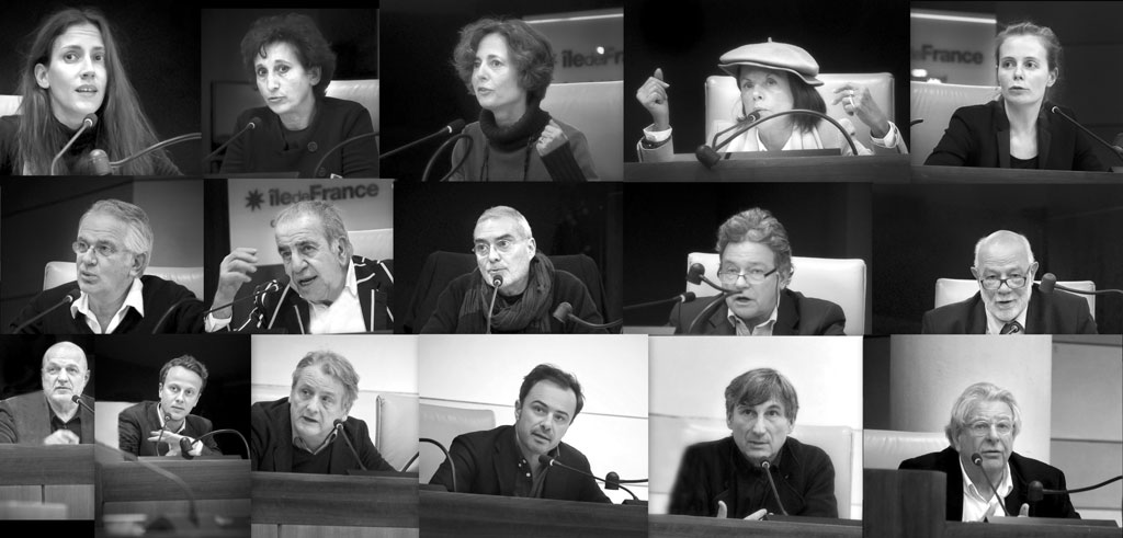 Presentation at the Hemicycle of the Conseil Régional d'Île-de-France in Paris