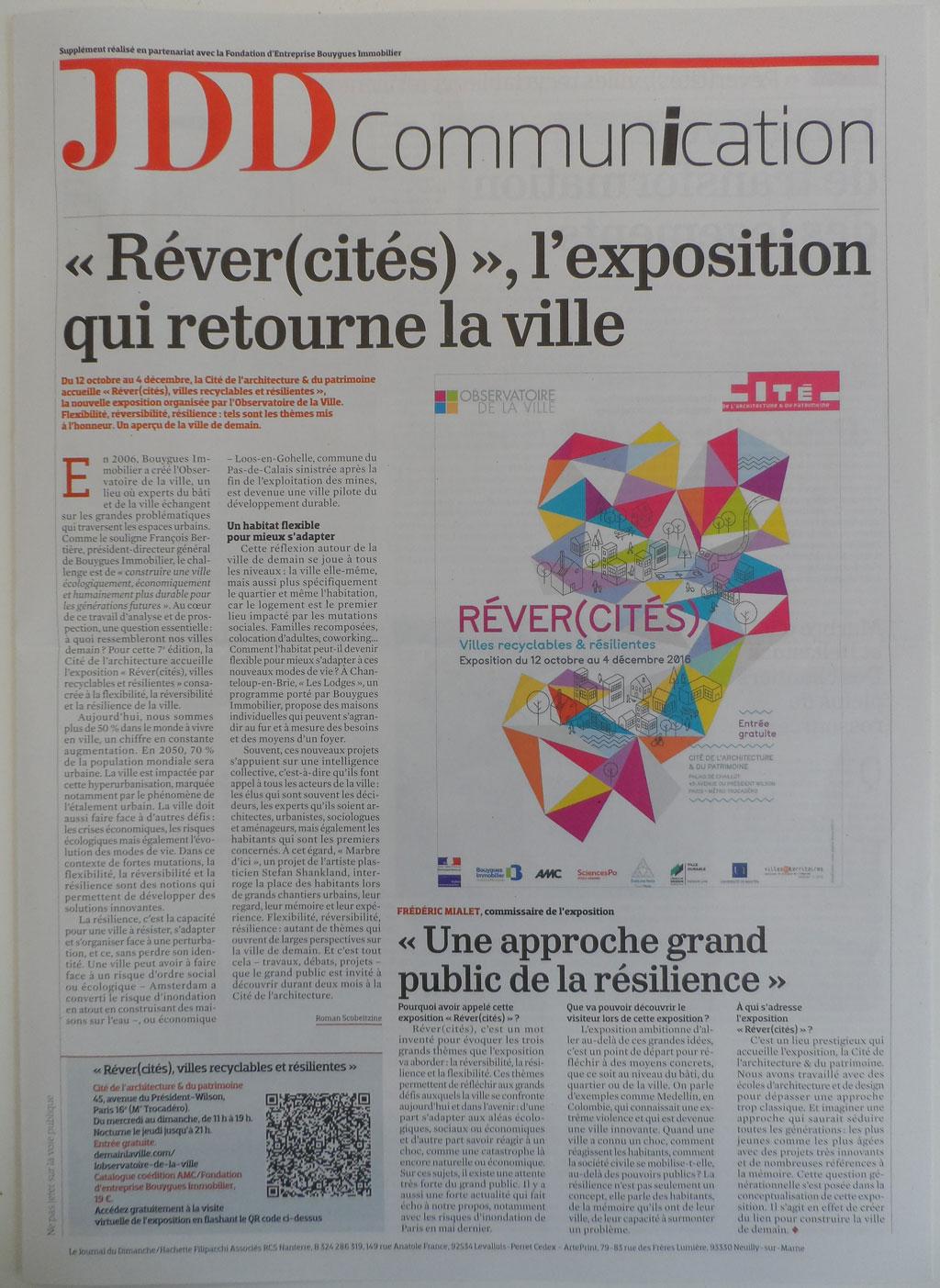 JDD Communication: « Réver(cités) », l'Exposition qui Retourne la Ville