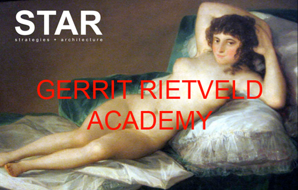 Lecture at Gerrit Rietveld Academy in Amsterdam