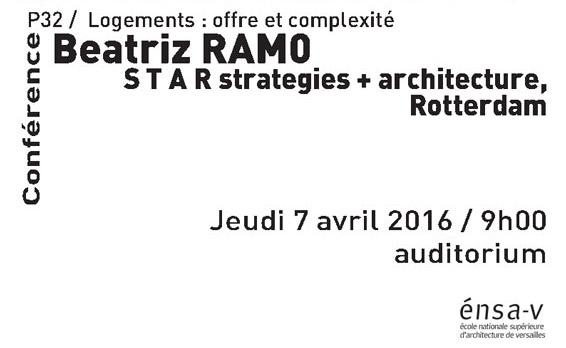 Beatriz Ramo gives a Lecture at Ecole Nationale Supérieure d'Architecture de Versailles